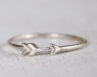 Arrow Ring, Sterling Silver Ring, Minimalist Arrow RIng, Tiny Arrow, Wanderlust Traveler, Stacking Ring, Simple Ring, Delicate, Boho