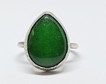 adjustable double cabochons 12 mm Malaysia jade stone ring