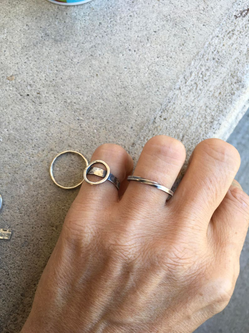 Sterling Silver Mobius Ring Rustic Hand Twisted Infinity Band