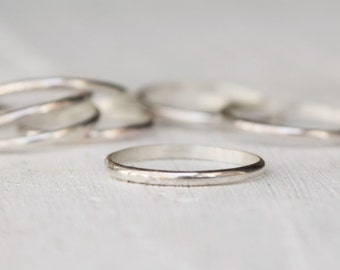 Simple Sterling Silver Ring, Minimalist Ring, Half Round Band, Midi Ring, Thumb Ring, Toe Ring, Multiples, Stacking Ring