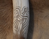 Hand Carved Raven Head Dr...
