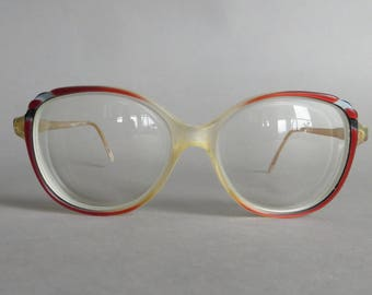31e02f2120d9a Vintage L Amy Eye Glasses Womens French L Amy Eye Glasses Red Eyeglasses  Vintage Eyewear Prescription Optical Glasses Hipster Glasses