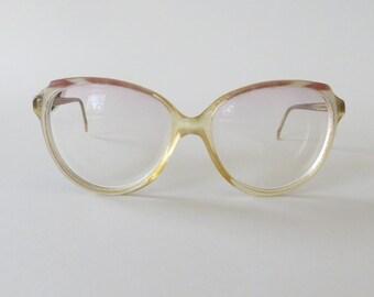 7ed686d250 Vintage Eye Glasses Womens Eye Glasses Big Eye Glasses Vintage Eyewear  Prescription Optical Glasses Hipster Glasses Finland