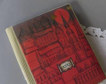 Vintage Photo Album UNUSED Scrapbook Memory Book Photo Organizer Blank Photo Album Red Postcard Album Soviet Picture Album