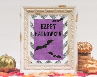 Happy Halloween Printable   Halloween Decor   8x10 - INSTANT DOWNLOAD