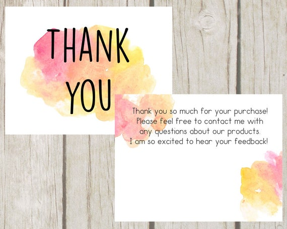 Thank You Cards Thank You For Your Purchase Postcard Etsy