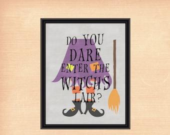 Witch's Lair   Halloween Printable   Halloween Decor   8x10 - INSTANT DOWNLOAD