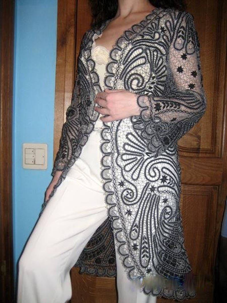 Bobbin Lace  coat pattern lace coat russian lace lacemaking