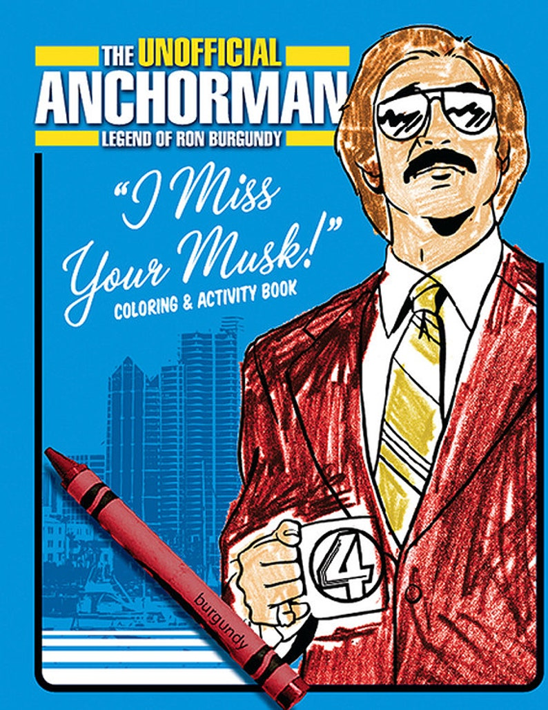 ANCHORMAN Coloring Book image 0