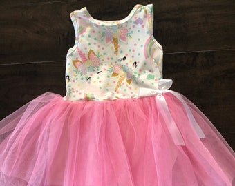 367dd11546b Sleeveless Unicorn Tulle Dress