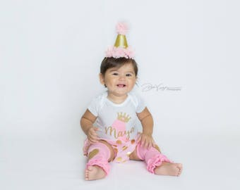 Baby girl first birthday onsie