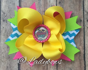 Beach Babe Layered Boutique Bow