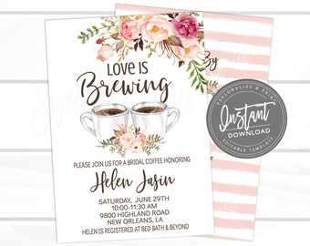 bridal tea invite etsy