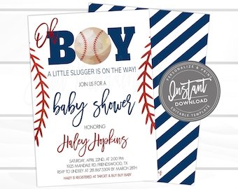 4ed68efa217b3 Baseball baby shower | Etsy