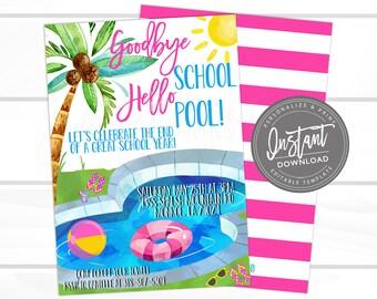 Pool Party Invitation Tween Birthday Bash Invite Adult Etsy