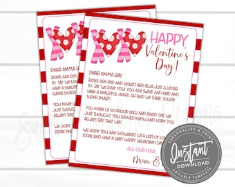 Editable Valentine's Day Letter, Love Letter, Gift for Kids, Love letter to him, Valentine Card idea, Printable Stationery, Instant Download
