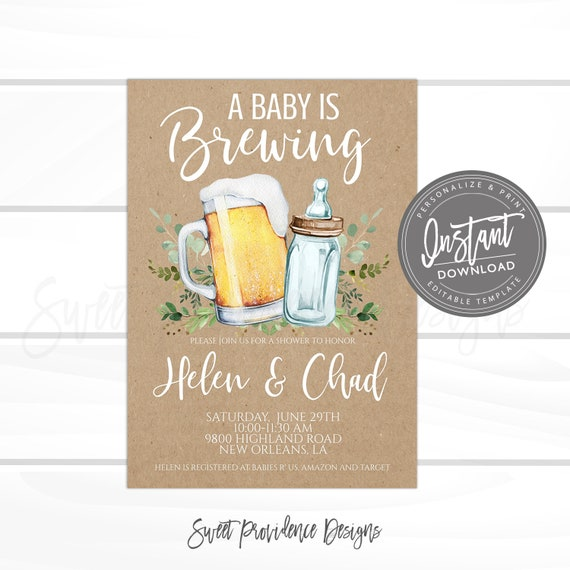 Couples Baby Shower Invitation Cheers Baby Shower Invitation Baby Shower Invitation