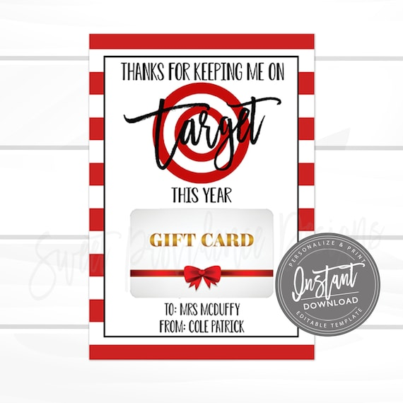 image relating to Printable Target Gift Card titled EDITABLE Trainer Present Card Holder, Aim Reward Card, Trainer