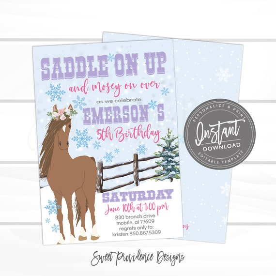 This is a graphic of Horse Birthday Invitations Free Printable intended for fairy birthday