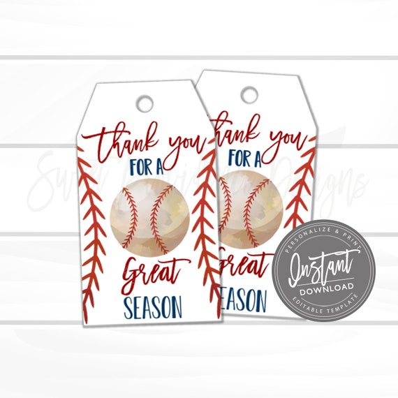 picture regarding Baseball Printable titled Baseball Printable Present Tag, Because of for a Ideal Year Like