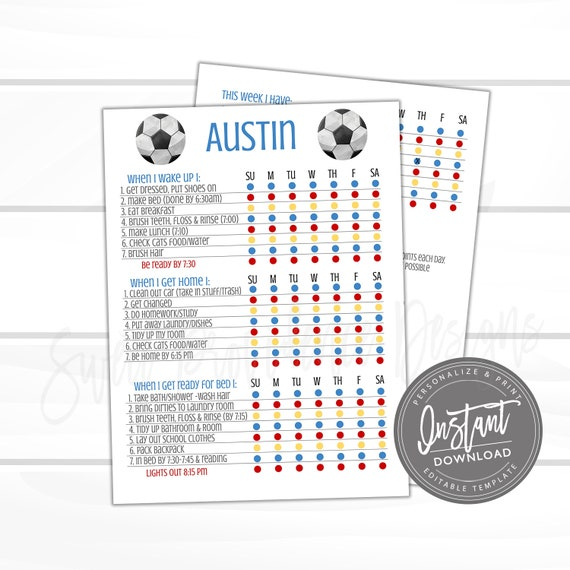 Kids Checklist Template from i.etsystatic.com