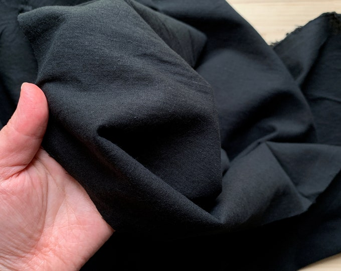 japanese fabric sold by 50cm half yard black cotton linen fabric cotton blend linen fabric soft light weight fabric