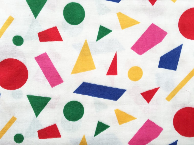 half yard japanese fabric 50cm solid cotton double gauze mixed color geometric pattern
