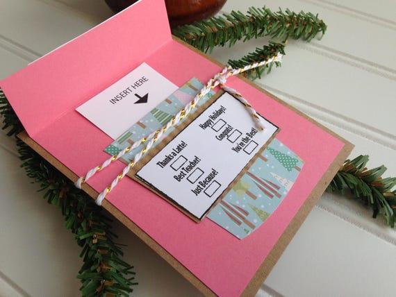 Christmas Gift Card Holder Starbucks Coffee Gift Card Holder
