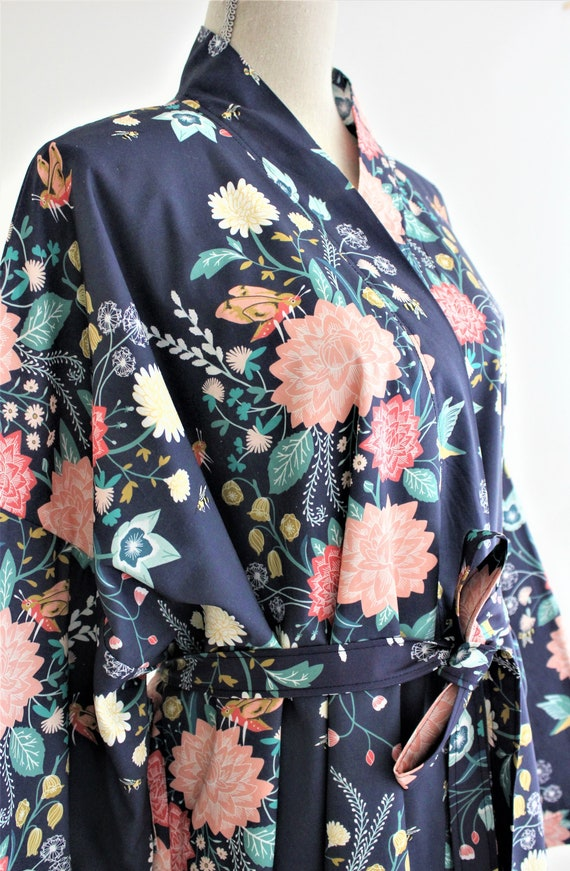 9d8436ac13 Robe Robes Digital Printed Cotton Robes Custom Kimono