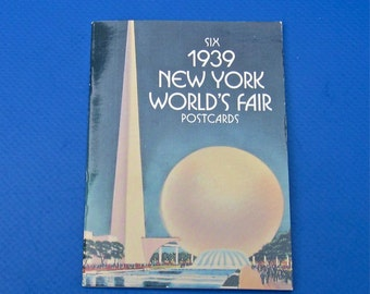 Six 1939 New York World's Fair Postcards, edited by Maggie Kate