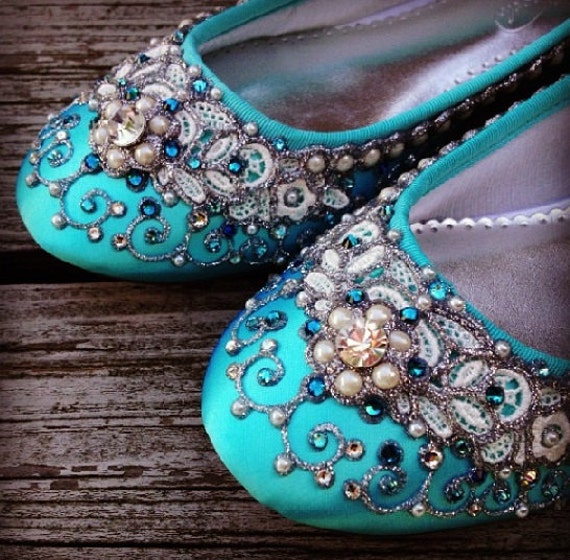 9a042889fdd3 Cinderella s Slipper Bridal Ballet Flats Wedding Shoes