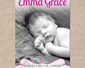 Emma Birth Announcement