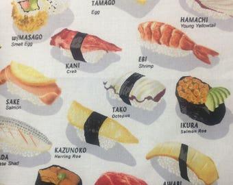Sushi print fabric fat quarter