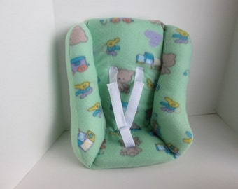 Mint Green with Baby Print Car Seat