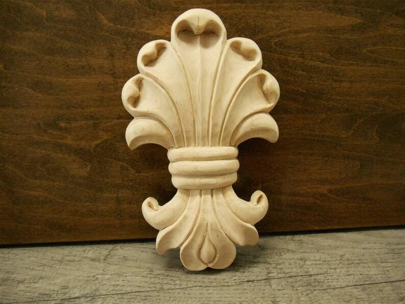 Wood applique mapple wood carved applique ref em s etsy