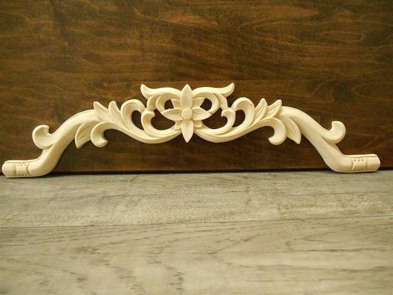 Cm wood carving corner onlay applique frame cabinet