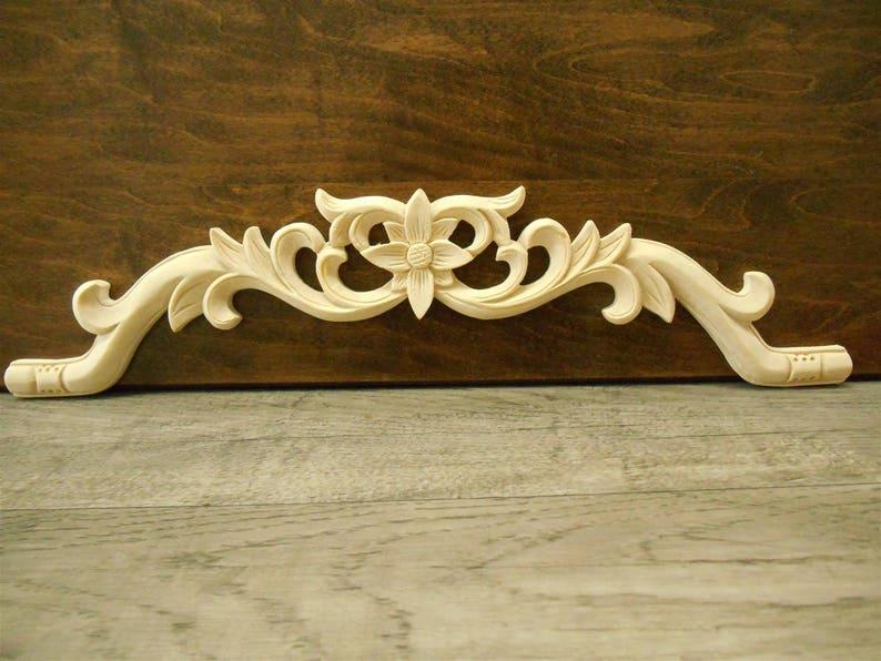 Legno intagliato applique applique legno bianco legno etsy