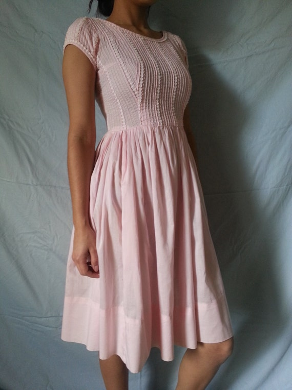 1950's Betty Barclay Pink Summer Dress