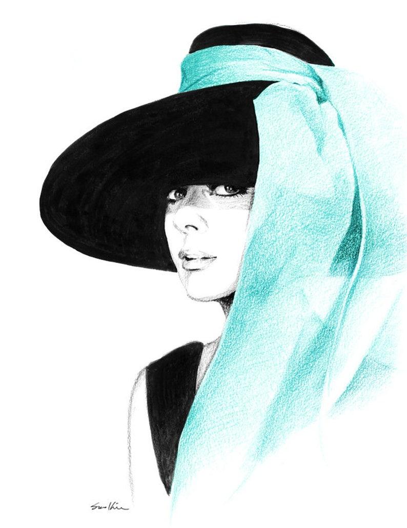 0bc75e1f9e2 Audrey Hepburn in Big Hat Breakfast at Tiffany s