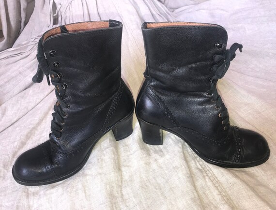 Vintage Black Guess Granny Boots Size 6