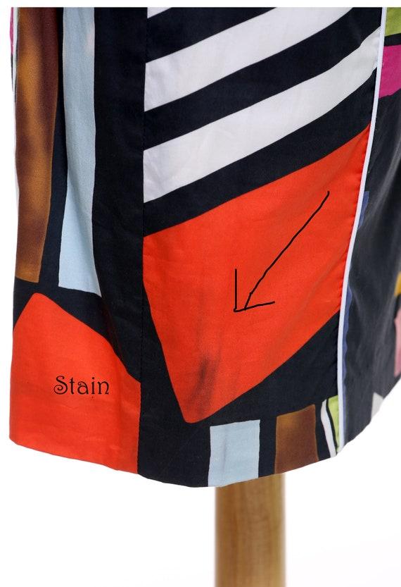 Black Abstract Sheath Dress - image 7