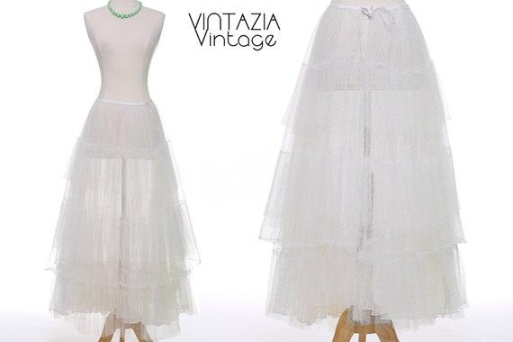 Vtg 50s White Petticoat/Vintage Crinoline