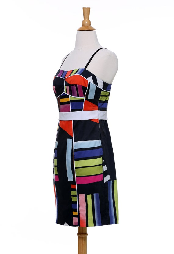 Black Abstract Sheath Dress - image 3