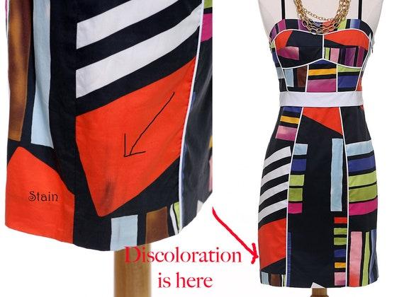 Black Abstract Sheath Dress - image 6