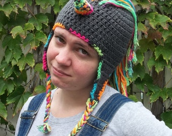 Unicorn hat pattern, crochet unicorn hat PDF pattern multiple sizes