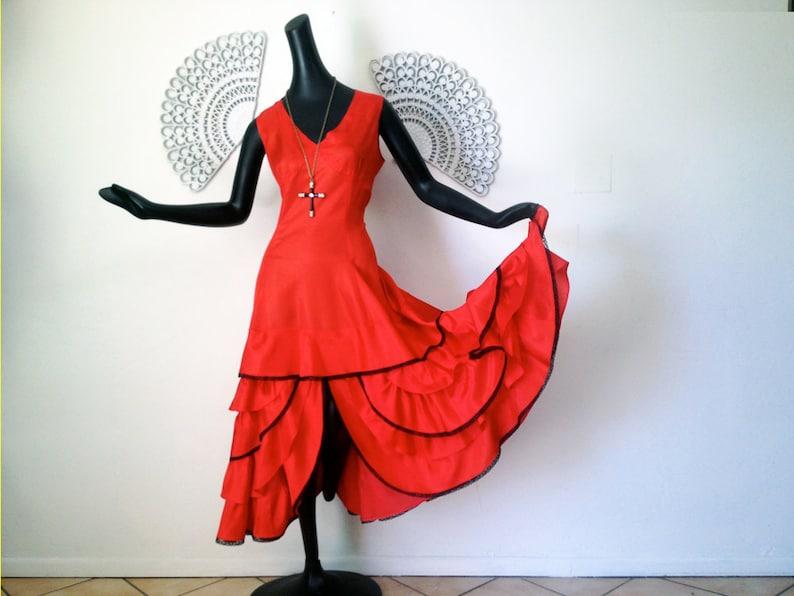 29b0d16693ab Vintage Tango Dress Swing Dance Dress Vintage 1950s 1960s   Etsy