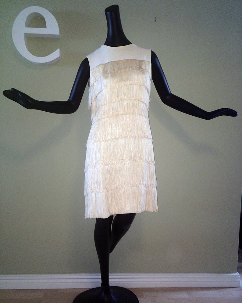 18fa5dceb22d Vintage 1960s Flapper Dress Roaring Twenties 20s Great Gatsby | Etsy