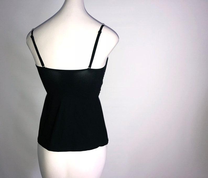 42c69b9b2b838 MOD Black & White Swimsuit Tankini Top Rockabilly Retro   Etsy