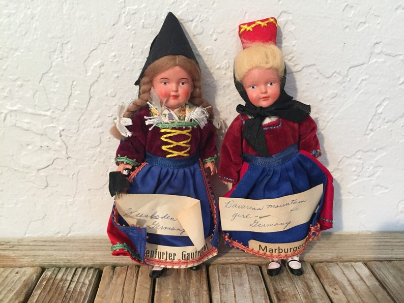 Pair of Vintage German Dolls image 0