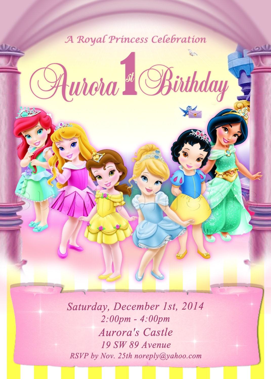 Digital Disney Toddler Princess Invitation Princess | Etsy